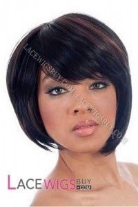 "8"" Silky Straight #1B/30 Glueless Lace Front Wigs 100% Indian Remy Human Hair [GLRSS1597]"