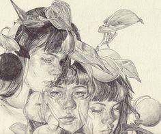 Devils ivy creeps into everything I'm slowing realising ahh Art Sketches, Art Drawings, Arte Sketchbook, A Level Art, Ap Art, Art Portfolio, Pretty Art, Portrait Art, Art Inspo