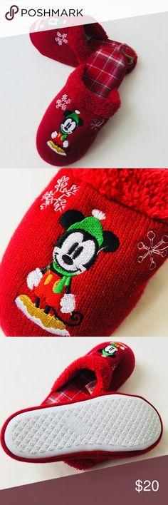 Disney Store Unisex Mickey Mouse Slippers Disney Store Unisex Slippers, Red, Mickey Mouse, Cushioned Sole. Men's 5/6, Women's 7/8 Disney Shoes Slippers