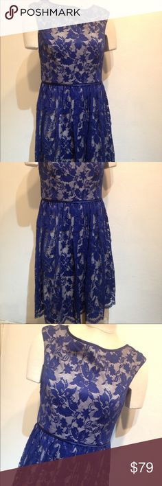 maggie london blue lace dress size 10 maggie london blue lace dress size 10 no holes or stains smoke free maggie london Dresses Mini
