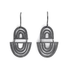 """""""Swinging, swaying, constantly moving and changing, the Shift series captures and transforms the energy of the wearer"""" Oxidised sterling x x Pieces Of Eight, Oxidized Sterling Silver, Contemporary Jewellery, Galleries, Earrings, Trends, Accessories, Jewelry, Lady"""