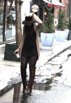 short skirt and a long jacket? ;-)