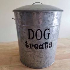 Dog Food Treats DECAL ONLY for Pet Storage Food Container by BeYOUtifulMonograms on Etsy