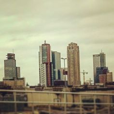 #Cityscape of #rotterdam from the #working #pit