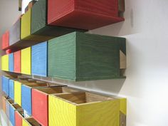 Simple french cleat hardware storage boxes.  That looks like a well spent Saturday.