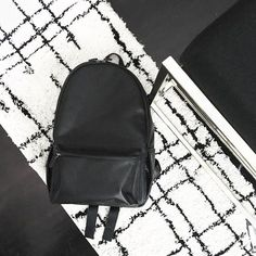 @well_received's black leather Clifton backpack