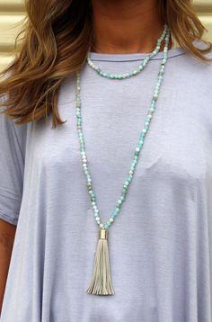 Sandy Tasseled Wrap-Around Necklace
