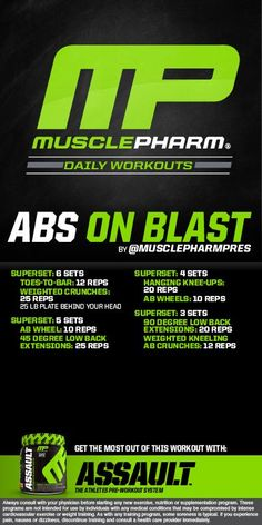Fitness Articles Tips and Workouts: Muscle Pharm Ab on Blast workout Bodybuilding Training, Bodybuilding Workouts, Men's Bodybuilding, Ectomorph Workout, Muscle Fitness, Fitness Tips, Health Fitness, Gain Muscle, Build Muscle