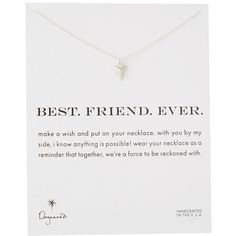 Dogeared Best. Friend. Ever. Pyramid Heart Reminder Necklace ($48) ❤ liked on Polyvore featuring jewelry, necklaces, charm pendant necklace, bracelet charms, heart charms, charm necklace and heart shaped necklace