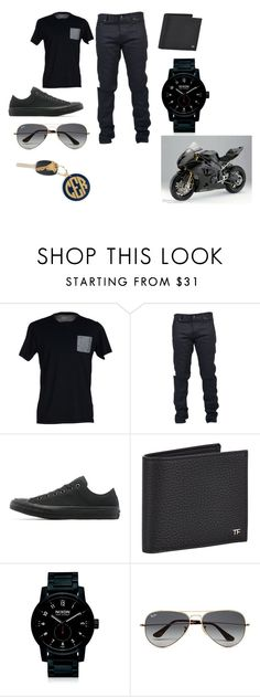 """""""Nice"""" by metteaadahl on Polyvore featuring SELECTED, Yves Saint Laurent, Converse, Tom Ford, Nixon, Ray-Ban, Hartford, BMW, men's fashion and menswear"""