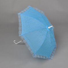 Sky Blue Lace Wedding Umbrella Color (Related):Sky BlueCategory:Bridal ParasolsCanopy Materials:Nylon/LaceHandle Materials:JaffaiteUmbrella Stem:MetalFolded Length (Handle Included):52Span Diameter (Unfolded):57Lace Hem:2Color:BlueShown Color:Sky Blue…