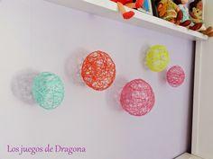 Globos de colores para decorar una habitación infantil