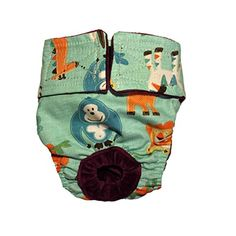 Dog Diapers  Made in USA  Jungle Buddies on Teal Washable Dog Diaper S for Incontinence Housetraining and Dogs in Heat >>> To view further for this item, visit the image link.