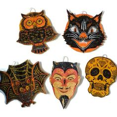 Hey, I found this really awesome Etsy listing at https://www.etsy.com/listing/219583314/halloween-ornament-decoration-vintage