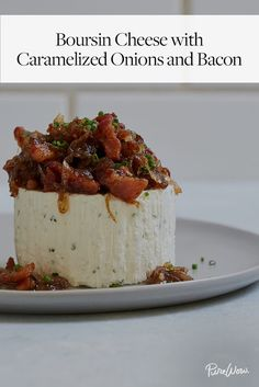 Boursin Cheese with Caramelized Onions and Bacon via @PureWow via @PureWow