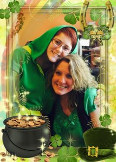 Happy St. Patrick's Day from our Administrative Support Specialist Rebekah and Director of Operations Catherine!
