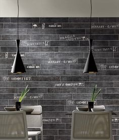 writings on the wall- ceramic 'wood' from cottage collection, Serenissima Cir Industrie Ceramiche Restaurant Interior Design, Cafe Interior, Interior Styling, Interior And Exterior, Restaurant Concept, Cafe Restaurant, Tom Dixon, Commercial Design, Commercial Interiors
