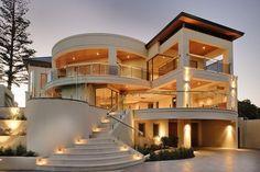 40 Most Beautiful Modern Dream House Exterior Design Ideas « housemoes Luxury Homes Exterior, Luxury Homes Dream Houses, Dream House Exterior, Exterior Design, Exterior Houses, Dream Homes, Bungalow House Design, House Front Design, Modern House Design