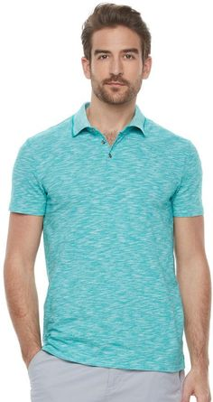 33d0eae13 This men s polo shirt from Marc Anthony stands out from the rest.