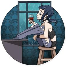 Набор стикеров для Telegram «Плохая девочка» Stickers, Anime, Art, Art Background, Kunst, Cartoon Movies, Anime Music, Performing Arts, Animation