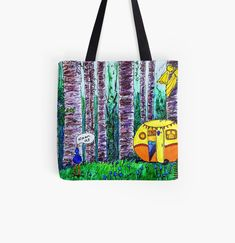 Large Bags, Small Bags, Cotton Tote Bags, Reusable Tote Bags, Medium Bags, Caravan, Are You The One, Shopping Bag, Fine Art Prints