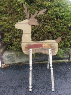 What Do You Do With Scrap Wood, Build a Reindeer Of Course!