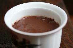 Chocolate Pudding ~ Homemade stovetop chocolate pudding! Enjoy chocolate pudding the way it is supposed to be made, from scratch, with cocoa powder, sugar, milk, egg, and chocolate chips. ~ SimplyRecipes.com