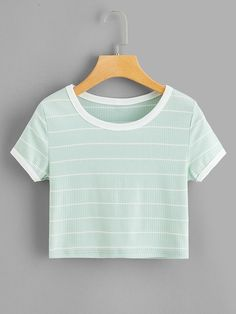 ROMWE offers Striped Ringer Tee & more to fit your fashionable needs. ROMWE offers Striped Ringer Tee & more to fit your fashionable needs. Teenage Girl Outfits, Cute Girl Outfits, Teenager Outfits, Retro Outfits, Cute Casual Outfits, Outfits For Teens, Tween Fashion, Girls Fashion Clothes, Teen Fashion Outfits