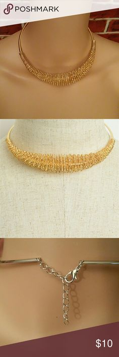 "🔥Sale $10🔥Multi Coil Necklace Choker Multi Coil Necklace Choker. Size: 16 "" Color: Gold. **Seller's Discount: 20% off 2 or more items.** Jewelry Necklaces"
