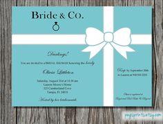 Breakfast at Tiffany's Bridal Shower Invitation (Printable)