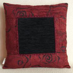 Cuscino arredo casa cm 43x43, PEZZO UNICO, in velluto color vinaccia e nero. - Pillow 17x17 inch, UNIQUE, wine and black velvet, patchwork. di RITALYstyle su Etsy
