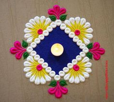 50 Sita Navami Rangoli Design (ideas) that you can make yourself or get it made during any occasion on the living room or courtyard floors. Rangoli Designs Simple Diwali, Simple Rangoli Border Designs, Rangoli Simple, Indian Rangoli Designs, Rangoli Designs Latest, Rangoli Designs Flower, Free Hand Rangoli Design, Small Rangoli Design, Rangoli Ideas