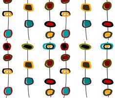 Mid-Century Modern Abstract fabric by egnatz on Spoonflower - custom fabric