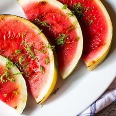 Grilled Watermelon with Lime