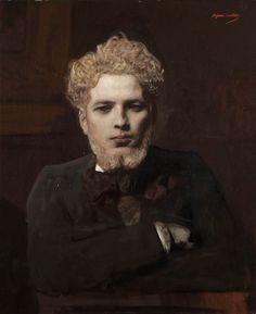 Jean-Joseph Benjamin-Constant (1845-1902) Young Bearded Man, or The Albino