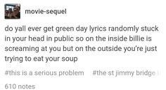 'And ours just trying to eat your soup' and Billie is over here, eating my lunch...