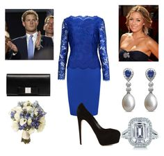 """""""Duchess and Duchess at Reception"""" by royal-fashion ❤ liked on Polyvore featuring Ted Baker, Asprey, Lauren Conrad, Tiffany & Co., Brian Atwood and Balenciaga"""