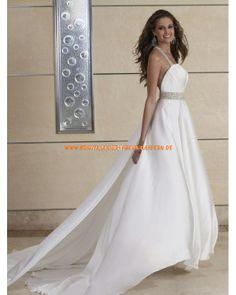 2013 Schicke rückenfrei Brautkleider aus Chiffon A-Linie