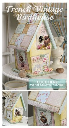 Transform a $3 birdhouse from the craft store. Visit Crafts 'n things for a link to project instructions.