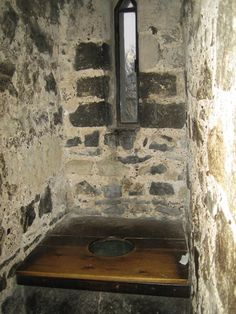 Medieval loo inside the Tower of London, all contents fell straight into the moat