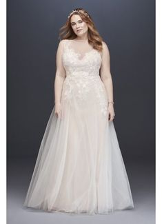 Looking for the top wedding dress designers? Browse David's Bridal elegant designer wedding dresses & gowns to select the perfect look for your big day! Plus Wedding Dresses, Western Wedding Dresses, Wedding Dress Styles, Bridal Dresses, Davids Bridal Plus Size, Plus Size Wedding, Long Sleeve Wedding, Wedding Dress Sleeves, Plus Zise