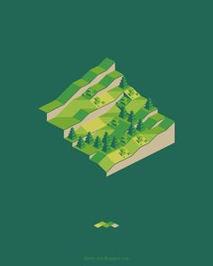 isometric perspective map hill - Google Search