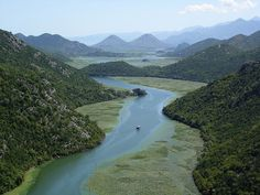 Lake Skadar lays between Albania and Montenegro. Looks like China but closer. :))  http://www.flickr.com/photos/langkawi/237521293/