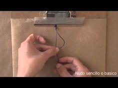 Nudos basicos de Macrame // pulseras de hilo