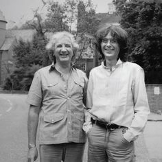 Jimmy with Michael Winner his old neighbour in Melbury Road, Kensington, London. You can see Tower House in the lefthand background, Jimmy's London home.