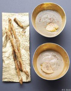 Velouté de châtaignes au foie gras