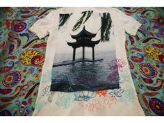 I created my first collection of jeans and silk shirts with the motives (mostly my own photography) of travels of Marco Polo.  #fashion #style #trendy #unique #bohemian #silk #art #handmade #photography #adventuryx #shanghai