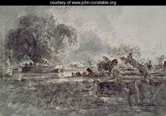 Study for  The Leaping Horse - John Constable - www.john-constable.org