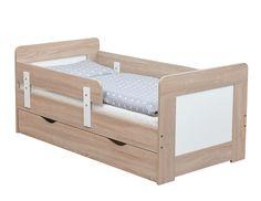 Kinderbett Juniorbett Sonoma Eiche / Weiss 140x70, Schublade Bettkasten | eBay
