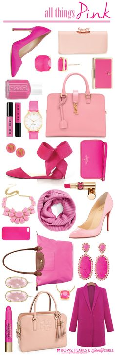 all things pink - Bows, Pearls & Sorority Girls